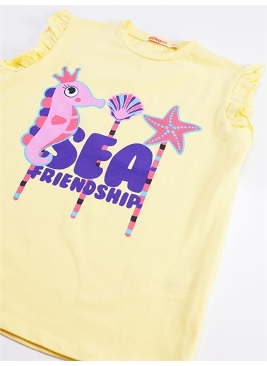 Denokids Deniz Dostları Kız Tayt Takım Renkli